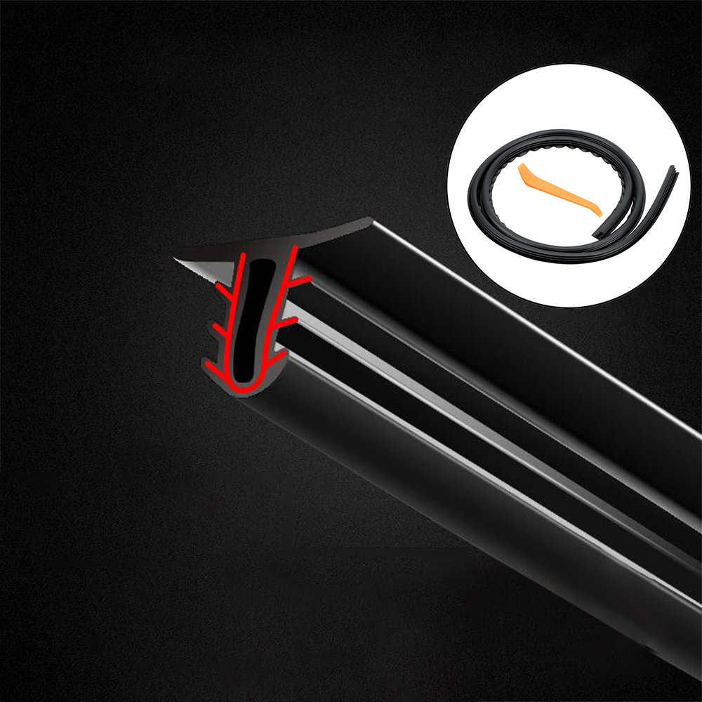 LEEPEE Universal Auto Rubber Dashboard Seal Strip Filler Weatherstrip Noise Sound Insulation Rubber Strip Car Stickers