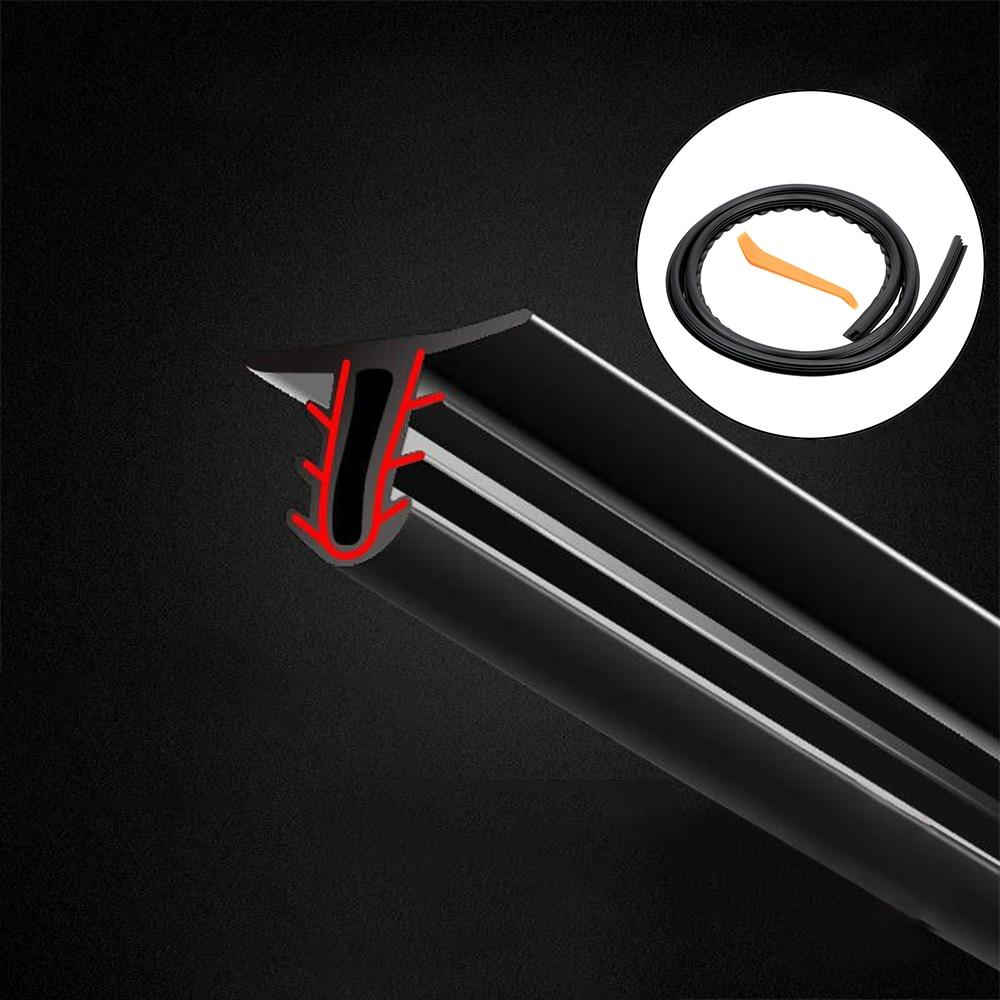 LEEPEE Universal Auto Rubber Dashboard Seal Strip Filler Weatherstrip Noise Sound Insulation Rubber Strip Car Stickers