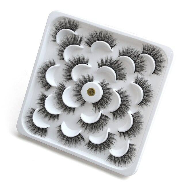 5/6/9/10 Pairs 3D Mink Lashes Natural Long False Eyelashes Dramatic Volume Wispy Fake Eyelashes Extension Makeup Wholesale 4