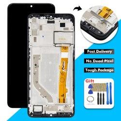 Wyświetlacz LCD AAA do Alcatel 3X 2019 5048 OT5048Y 5048U OT5048 wyświetlacz LCD ekran dotykowy szkło Digitizer montaż + rama