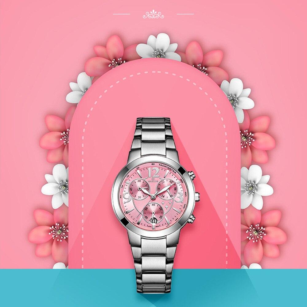 NAKZEN femmes montres roses Bracelet étanche en acier Montre-Bracelet-montres f-femmes cadeaux de noël nouvel an pour les filles