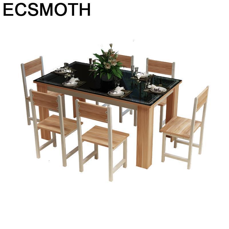 Room A Langer Comedor Meja Makan Redonda Escrivaninha Set Comedores Mueble Dinning Wood Desk Mesa De Jantar Bureau Dining Table