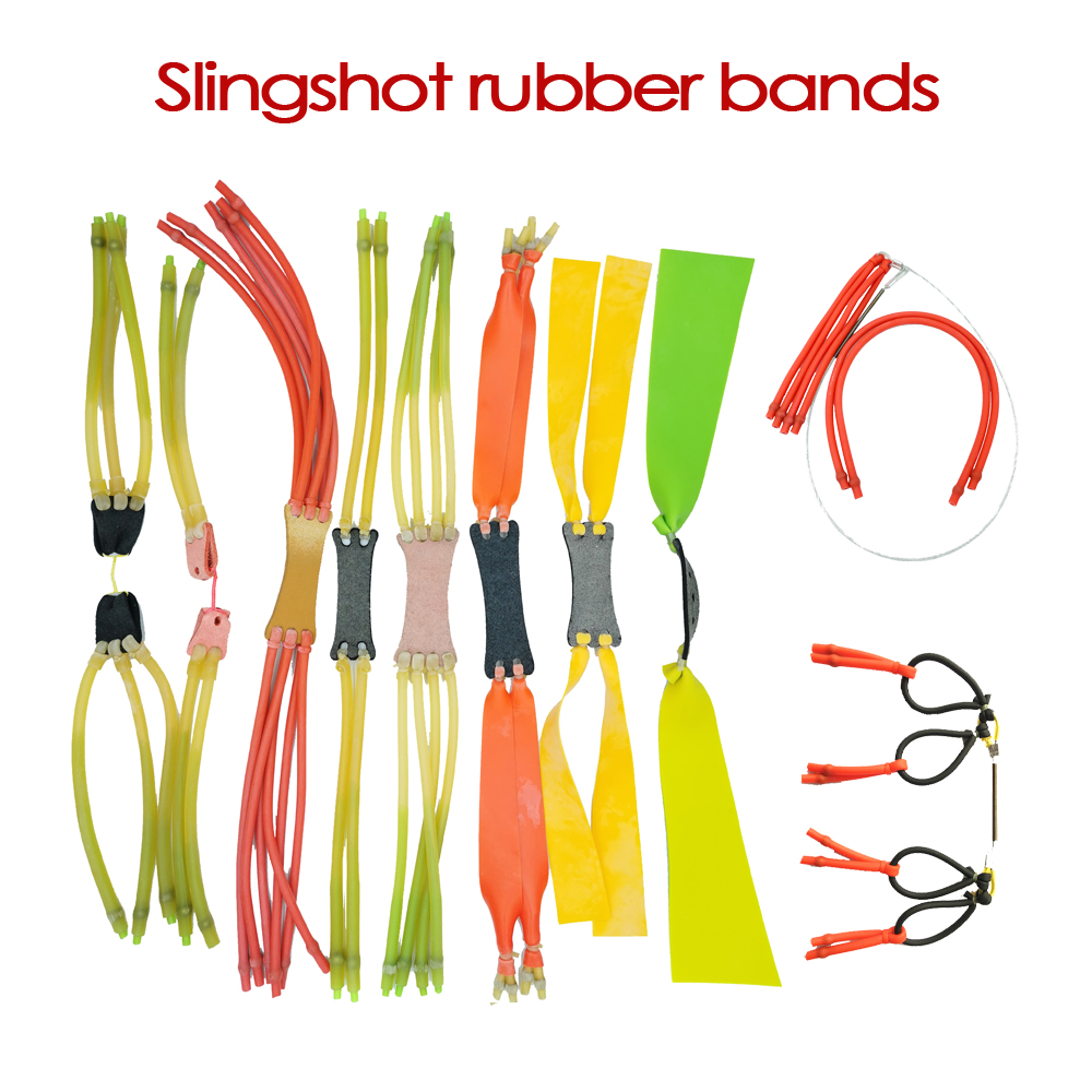 High Elasticity Slingshot Rubber Band Slingshot Accessories Frost-proof And Explosion-proof 8-strand Inside-through Rubberband