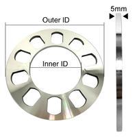 2 peças espaçadores de roda de alumínio do carro para 5 talões 5x114.3 5x120 5x120.7 5x127|Acessórios de pneus| |  -
