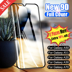 9D Protective Glass On For Samsung Galaxy A50 A40 A30 A10 A20E A60 A70 A80 A90 Tempered Glass For Samsung M10 M20 A20 A51(China)