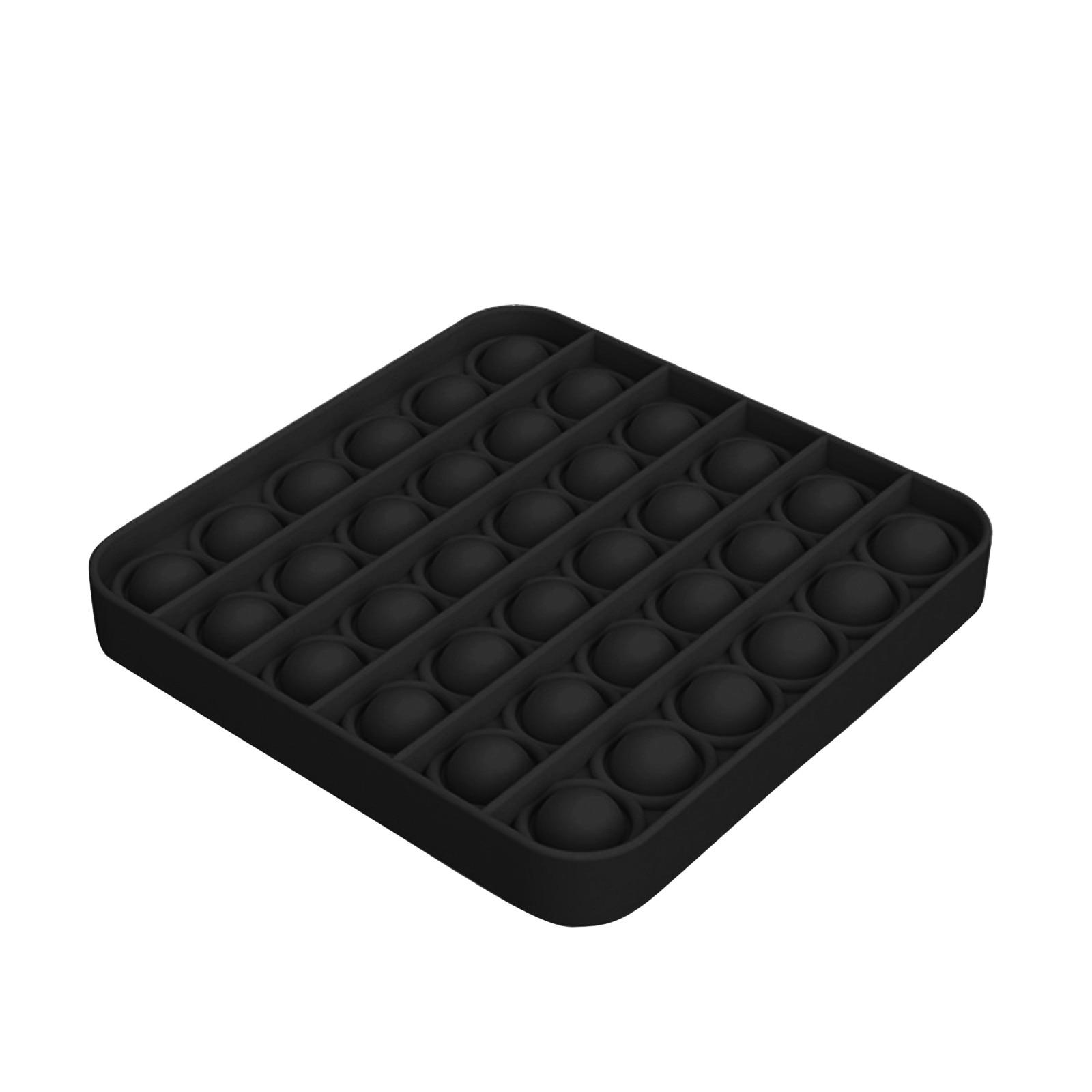 Черный Figet Popit пуш-ап пузырь Непоседа сенсорные игрушка для аутистов особых потребностей игрушка для снятия стресса Многофункциональный сжимающаяся игрушка игрушки