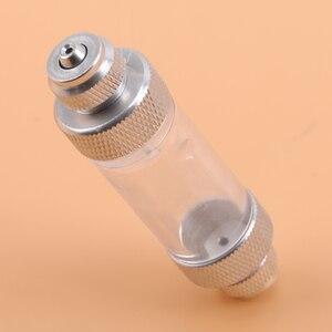 Tipo de válvula de retenção de aquário único/regulador de cabeça dupla difusor co2 bolha contador tanque de peixes contador de verificação de metal medidor de bolha