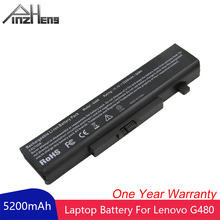 PINZHENG 5200mAh Laptop Battery For Lenovo G480 G580 Y480 Y580 G510 Z380 L11S6Y01 IdeaPad Y480P Y485P Y580P Z485 Series