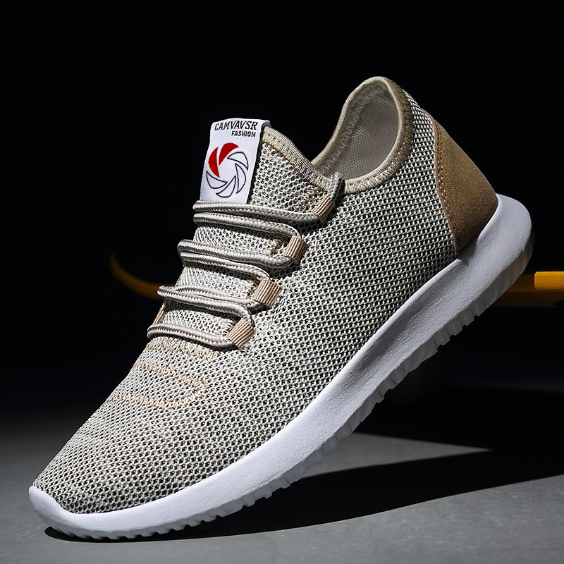 High Quality Men Shoes Breathable Comfortable Lightweight Mens Casual Shoes Lace-up Mesh Shoes On-slip Classic Big Size 47