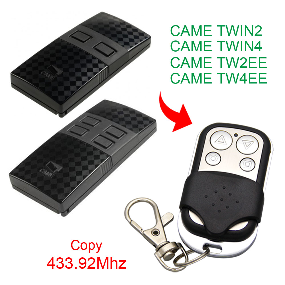 Copy CAME TWIN2 TWIN4 TW2EE TW4EE Remote Control 433.92mhz Copy Compatible Garage Door CAME TWIN2 TW2EE 433.92mhz Remote Control