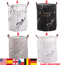 Large Folding Laundry Basket Toys Dirty Clothes Organizer Bucket Printed Collapsible Waterproof Home  Sorter Hamper Basket 1pc