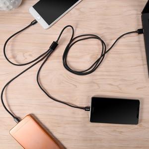 Image 5 - CHOETECH 3 ב 1 טלפון נייד כבל עבור iPhone 8 7 בתוספת ניילון קלוע מיקרו USB כבל סוג C עבור סמסונג S8 S9 טעינת כבלים