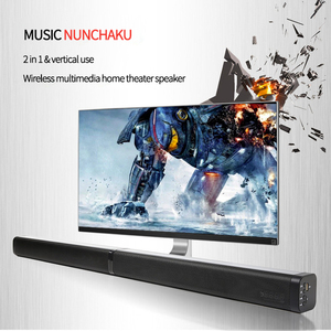 Sem fio bluetooth alto-falante subwoofer soundbar tv 40 w subwoofer de controle remoto para o cinema em casa aux óptico hdmi rca