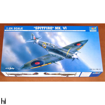 Trumpeter 02413 1/24 British Spitfire MK.VI Fighter Plane Aircraft Military Assembly Plastic Model Building Kit image