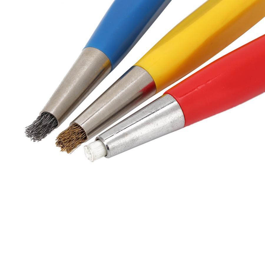 Image 5 - 3pcs/set Rust Removal Brush Pen Fiberglass Brass Steel Scratch Brush Clean Pen Watch Parts Polishing Tool Watch Parts AccessoryRepair Tools & Kits   -