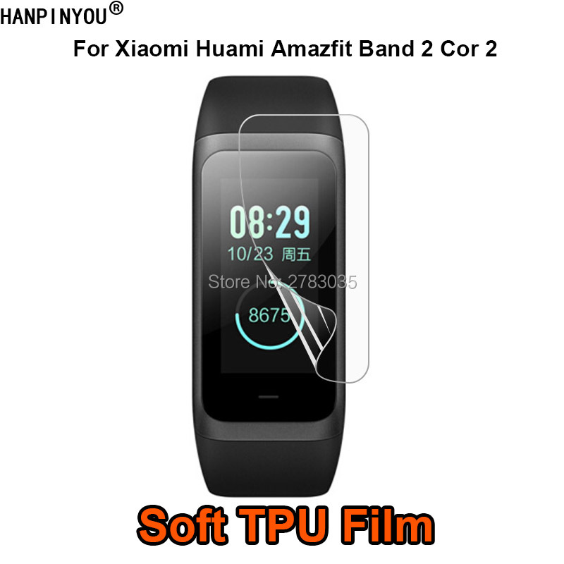 For <font><b>Xiaomi</b></font> <font><b>Huami</b></font> <font><b>Amazfit</b></font> Midong <font><b>Band</b></font> <font><b>2</b></font> <font><b>Cor</b></font> <font><b>2</b></font> Sports Smart Watch Soft TPU Film Screen Protector (Not Tempered Glass) image