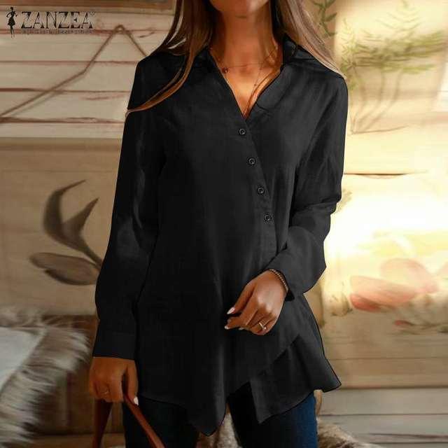 Long Sleeve Asymmetrical Blouse 4