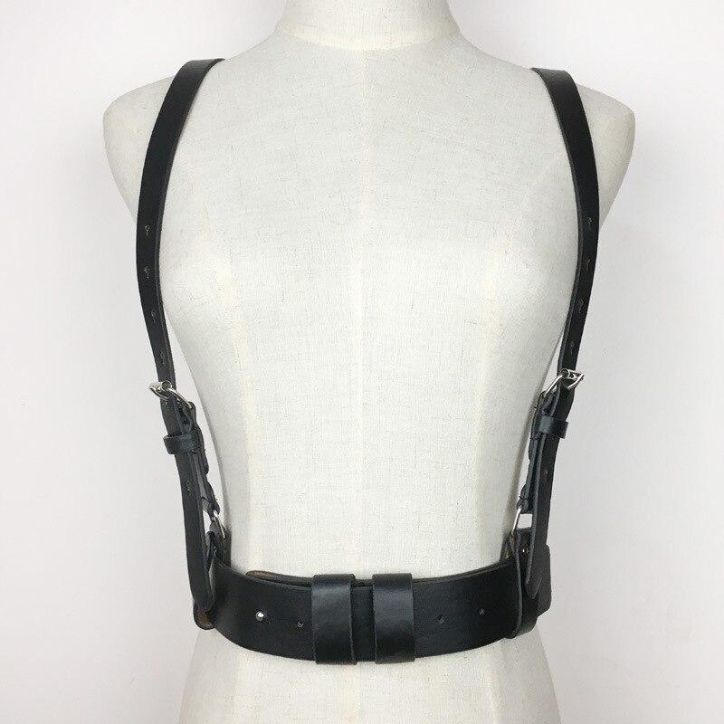 2020 New Design Fashion Leather Chain Wide Belts For Women Hot Sale Stylish Corset Belt All-match Strap Waistband Female ZL155