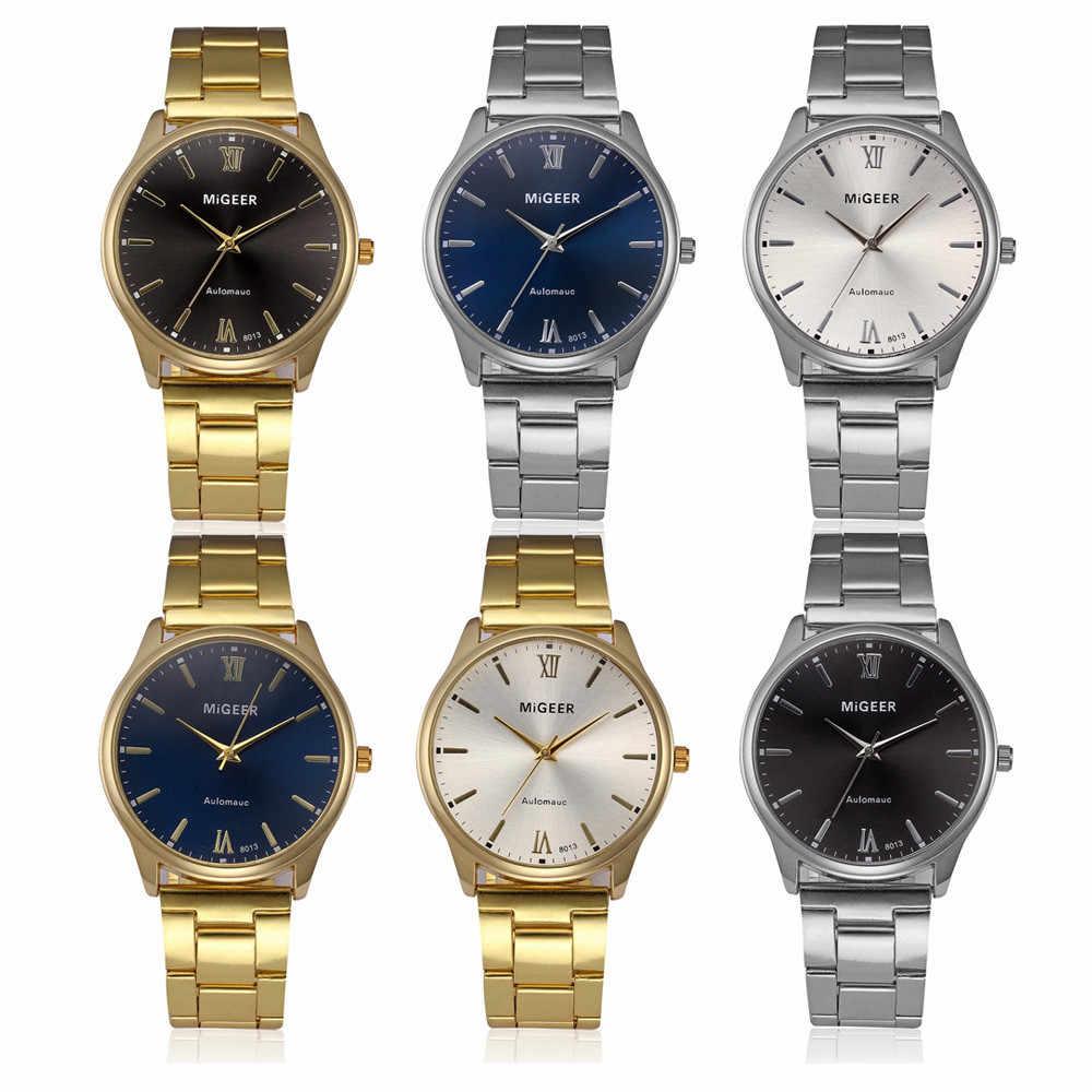 Horloge heren horloges topmerk luxe Mode Man Kristal Rvs Analoge Quartz Horloge hot koop reloj hombre