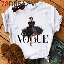 T shirt pour femmes, en Vogue, avec image princesse Harajuku, avec dessin animé, année 2020, Kawaii, Ulzzang, Hip Hop