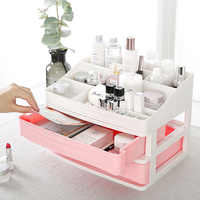 Plastic Cosmetic Drawer Makeup Storage Box Jewelry Nail Polish Makeup Container Home Office Desktop Sundries Organizers