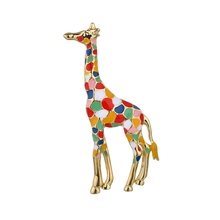 Gariton Enamel Giraffe Brooches for Women Cute Animal Brooch Pin Fashion Jewelry Gold Color Exquisite Gift For Kids