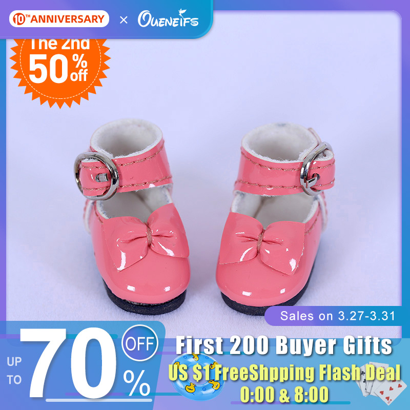 Shoes For BJD Doll 1/8 Leather ShoesMini Shoes For Lati YOSD Pukipuki BJD Dolls WX8-41 Length 2.9cm Width 1.2cm Doll Accessories