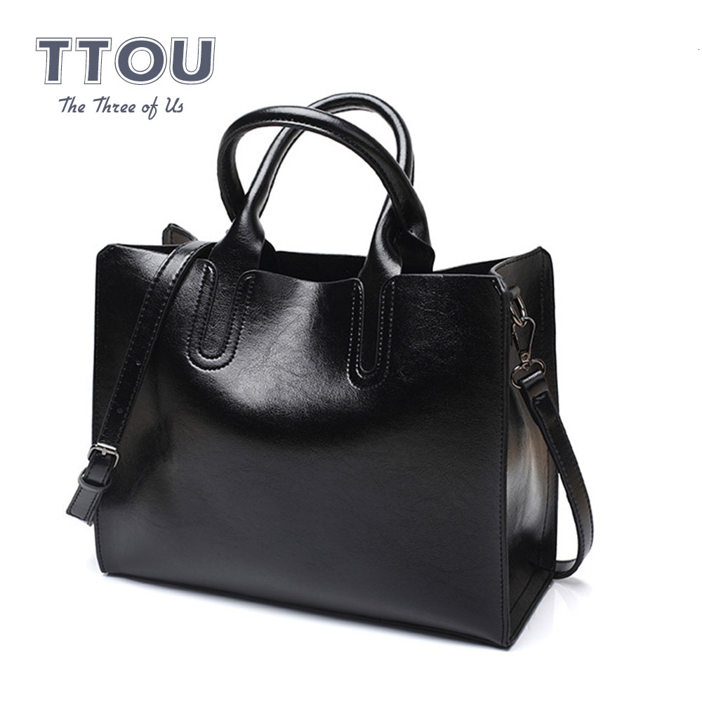 Vintage High Capacity Handbags For Women Solid Color Luxury Pu Leather Travel Messenger Bags High Quality Female Shoulder Bags