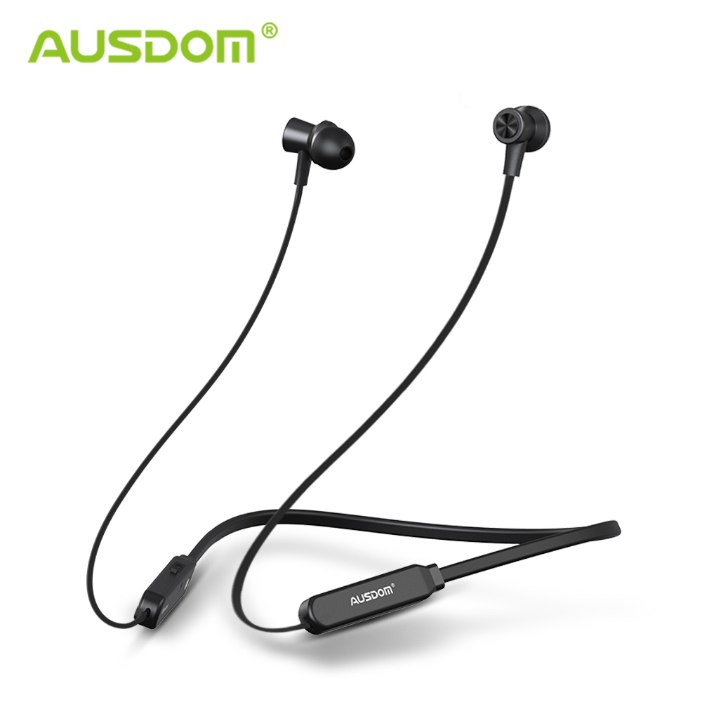 AUSDOM S5 Sport Wireless Bluetooth Earphone Headset High Quality Bluetooth Earbuds With Mic Magnetic Neckband for iPhone Xiaomi-in Phone Earphones & Headphones from Consumer Electronics on AliExpress