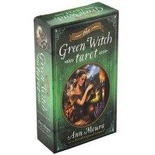 78pcs Inglese Completa Il Verde Strega Tarocchi Carte di Guida Divinazione Fate Oracle Deck Scheda di Gioco di Carte Per La Festa di Famiglia giochi da tavolo