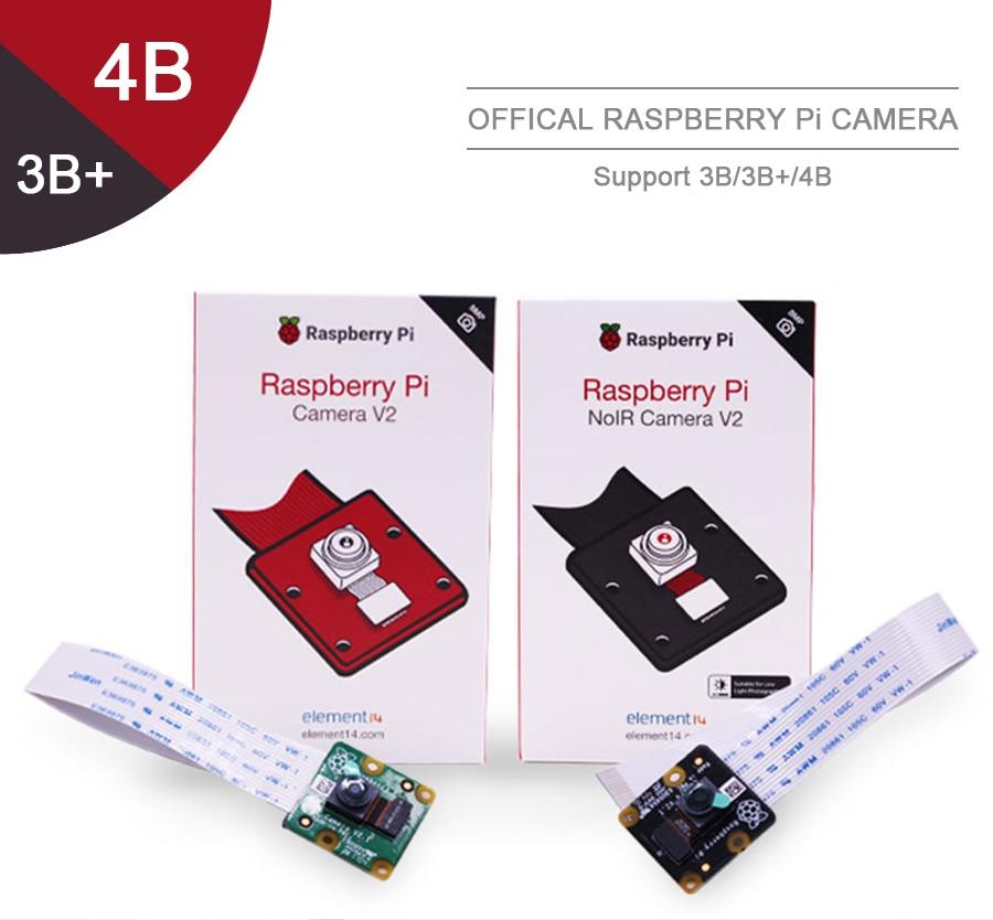 Módulo oficial da câmera v2 de raspberrypi com microplaquetas sensíveis à luz de sony imx219 pixels 8mp 1080 p suporte de vídeo raspberry pi 3b +/pi4