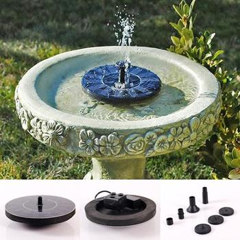 Garden Solar Fountain Pump Water Pool Power Plant Floating Submersible Decor Solar Panel Power Water Floating Pump