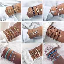 Bohemian Turtle Charm Bracelets Bangles For Women Fashion Gold Color Strand Bracelets Sets Jewelry Party Gifts new fashion charm bracelets for women bracelets exquisite rhinestone bracelets jewelry female