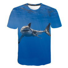 Summer 3D Fierce Shark kids T Shirts Blue Sea Fish boys and girls T Shirts Dreamy T Shirts New Design Tees Tops Dropshipping