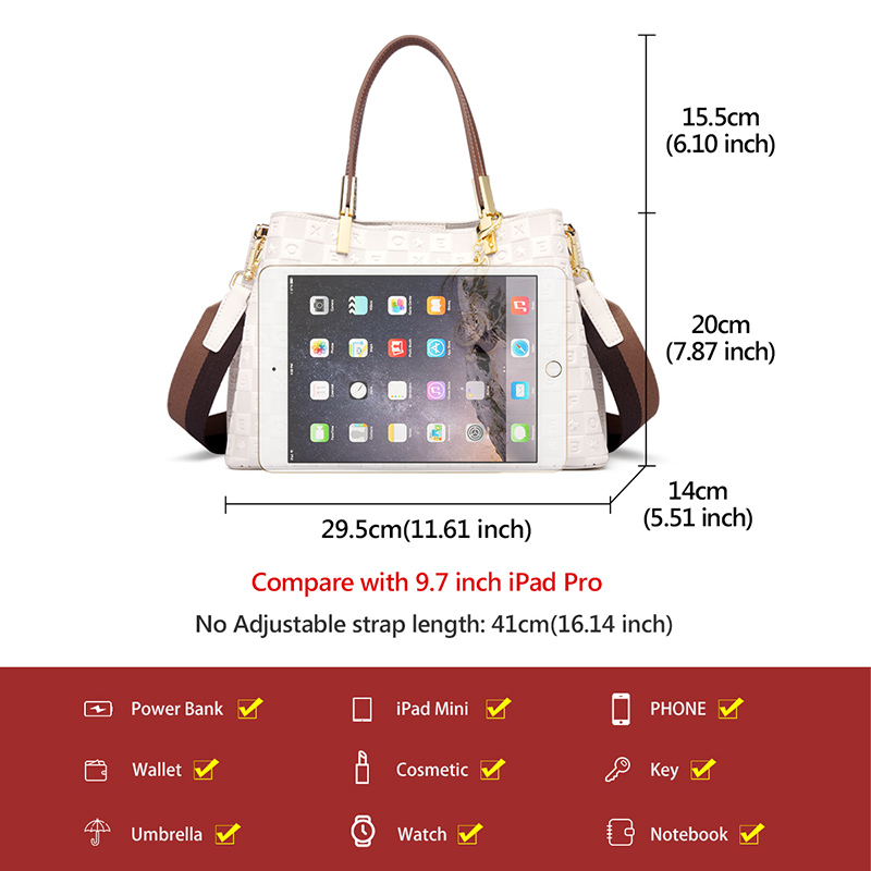 Foxer Laffy Women Handle Bag Elegant Office Ladies