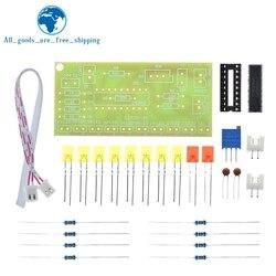 Tzt engraçado 10 indicador de nível de áudio lm3915 diy kit indicador de áudio eletrônico suíte