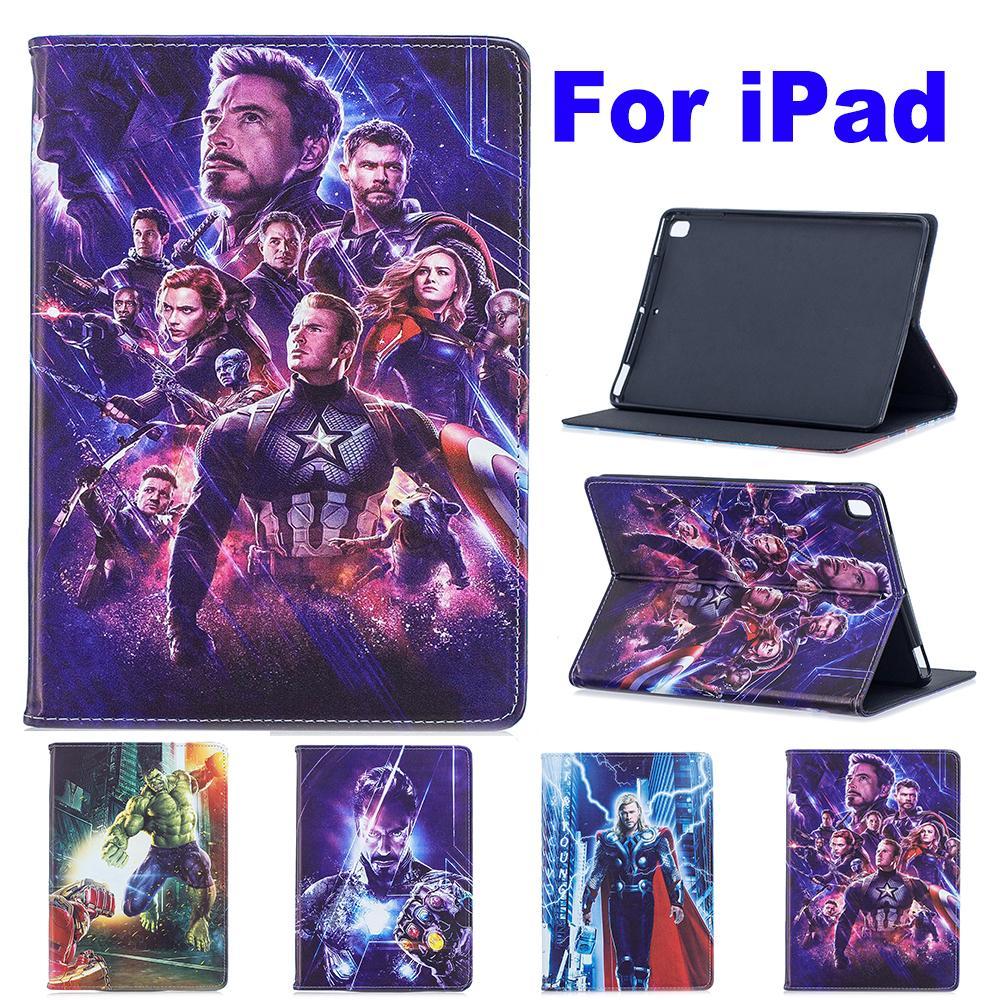 Funda para ipad 4 air 2 ipad 9,7 2017 2018 ipad mini 1/2/3/4/5 Pro película Marvel vengadores final Thor soporte coque capa cubierta