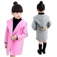 Детская одежда для девочек весна осень 2020 шерстяное пальто