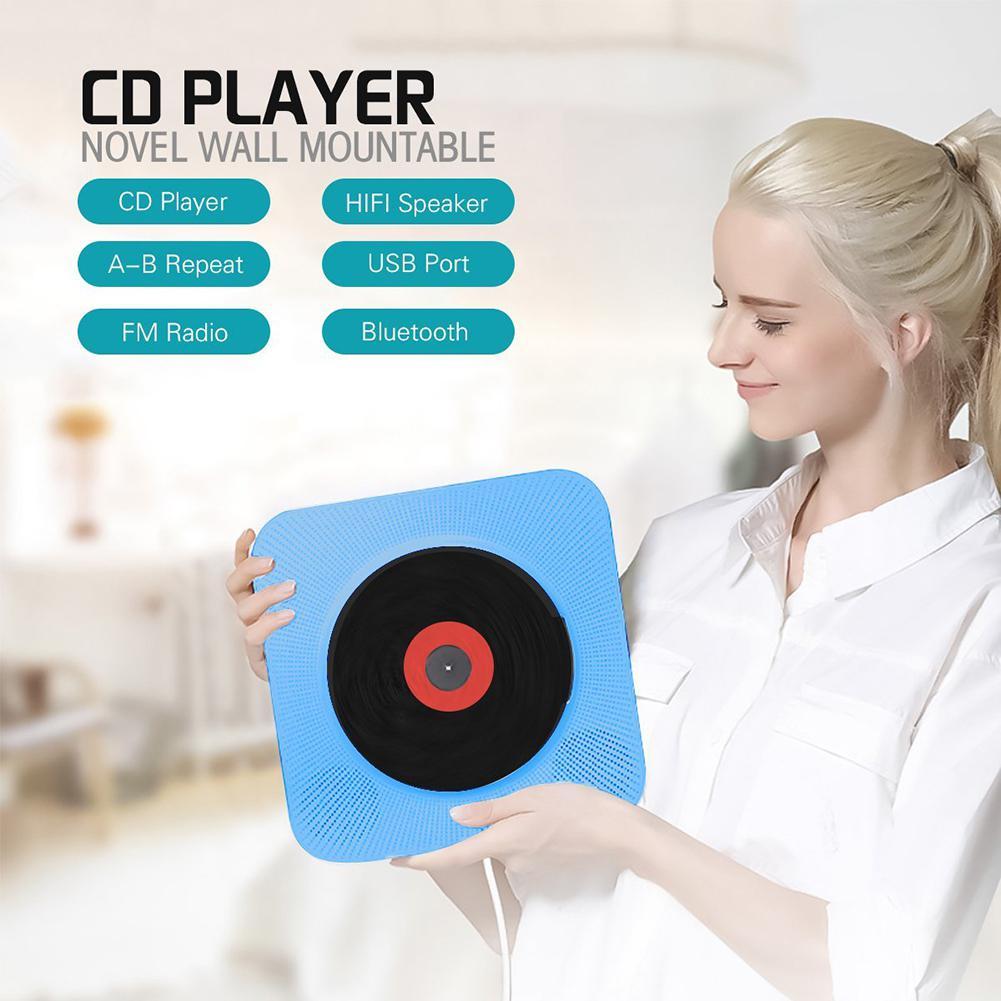 Lecteur CD mural Bluetooth Portable boîte Audio maison avec télécommande Radio FM haut-parleurs HiFi intégrés MP3