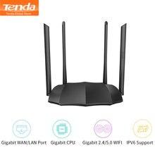 Tenda roteador ac8 gigabit versão 2.4ghz 5ghz wifi 1167mbps wifi repetidor 128mb ddr3 alto ganho 4 antenas extensor de rede