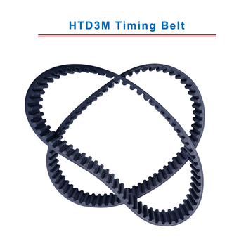 HTD3M Timing Belt with circular teeth 3M-501/504/507/511/513/516/519/522/525/528 teeth pitch 3mm belt width 10/15 mm free shipping 1pcs htd1540 14m 40 teeth 110 width 40mm length 1540mm htd14m 1540 14m 40 arc teeth industrial rubber timing belt