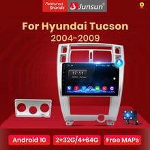 Мультимедийная система Junsun V1 для Hyundai, стерео-проигрыватель на Android 10, 2 Гб ОЗУ, 32 Гб ПЗУ, с GPS Навигатором, видеоплеером, для Hyundai Tucson 2004 2005 2006-2009,...