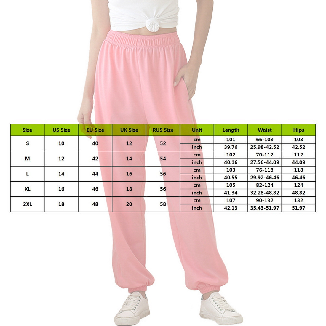 Excelente calidad de los joggers sueltos de cintura alta.