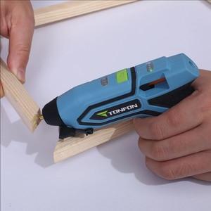 Image 5 - Orijinal Youpin Tonfon 3.6V akülü sıcak tutkal tabancaları USB şarj edilebilir tutkal tabancaları kitleri 10 adet tutkal çubukları güvenli işi aracı