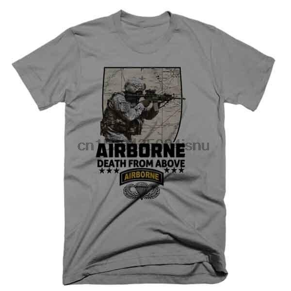 Armée américaine Combat vétéran T-Shirt 82nd parachutiste aéroporté infanterie assaut guerre