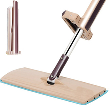 flat mop high quality aluminum alloy mop floor mop cleaning tool stainless steel rod Stainless Steel Flat Mop Free Hand Washing Spin Mop Home House Office Cleaning Tool Microfiber Kitchen Bathroom Floor Clean