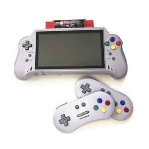 Image 3 - 16 битная Карманная игровая консоль с HDMI ULTRA SNES 5PLUS, портативная игровая консоль, 7 дюймовый большой экран, беспроводные контроллеры 2,4 ГГц