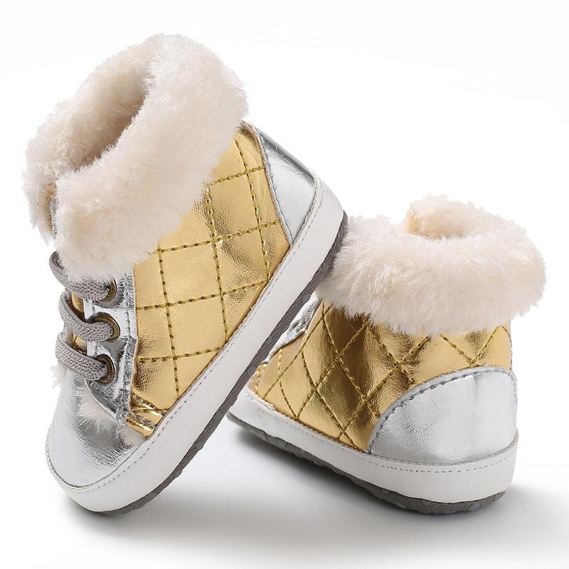 RGANT Baby Girls Soft Sole Boots,Toddler Anti-Slip Mid Calf Warm Winter Infant Prewalker Shoes