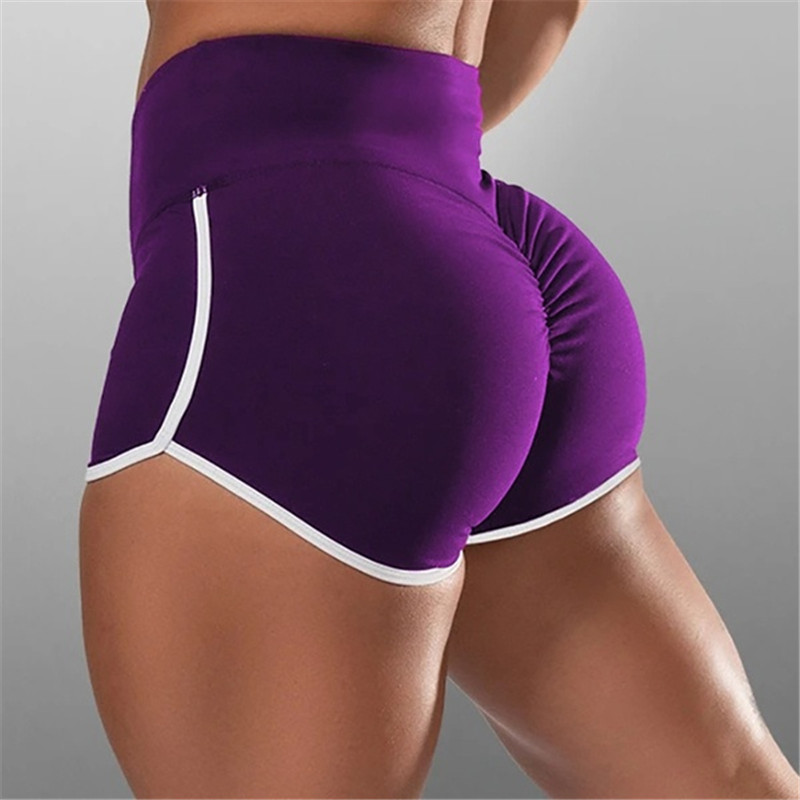New Summer Sport Shorts Women High Waist Elasticated Seamless Fitness Leggings Push Up Gym Training Gym Tights Pocket Short 5