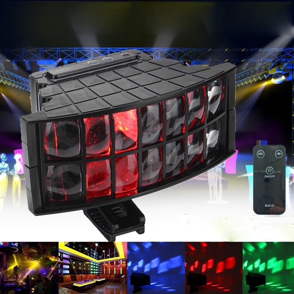 Портативный мини-диско-светильник RGB, светодиодный лазерный сценический прожектор красного, синего, зеленого цвесветильник, с USB-зарядкой с...